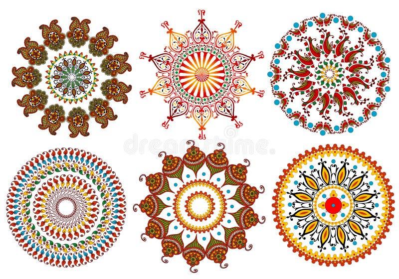 Vintage mandala design elements vector illustration