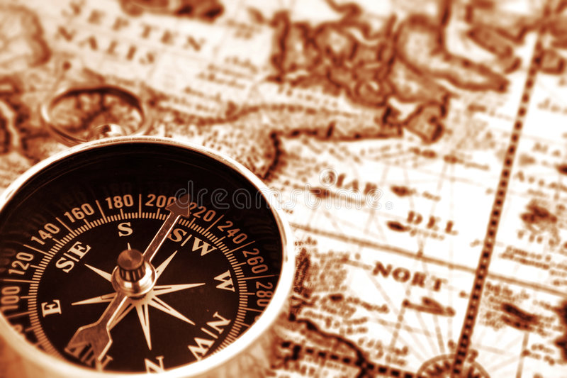 Download Vintage map stock image. Image of compass, nautical, magnet - 3139305