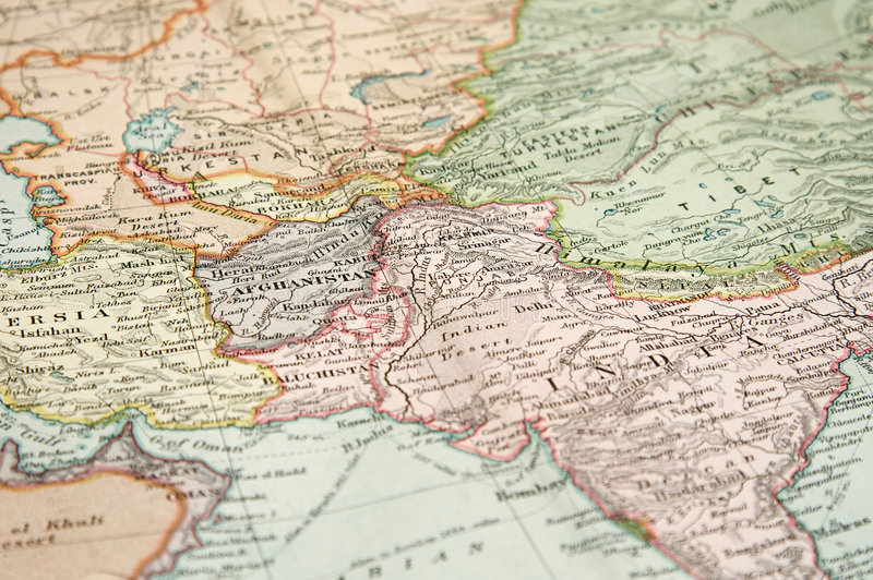 Vintage Map and Chart. Vintage (1907 copyrighted expired) map of Europe and Asia stock image