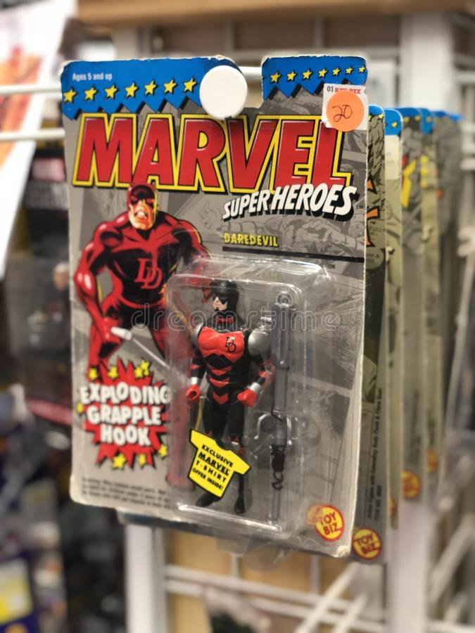 Vintage Marvel Daredevil Superheroes Abbildung lizenzfreies stockbild