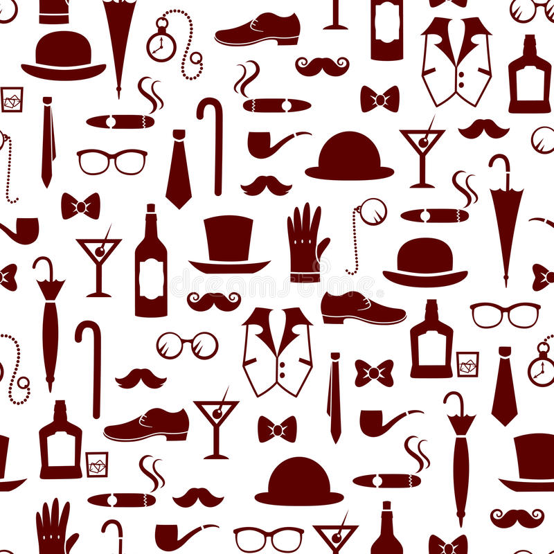 Vintage masculine pattern vector illustration