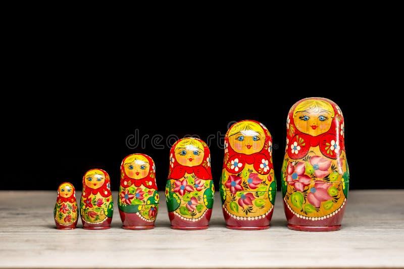 Vintage matryoshka dolls stock image