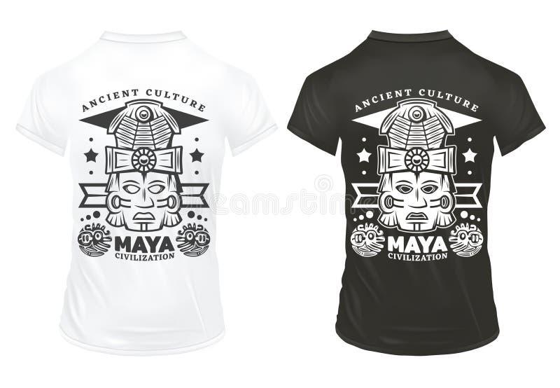 Vintage Maya Civilization Prints Template stock illustration