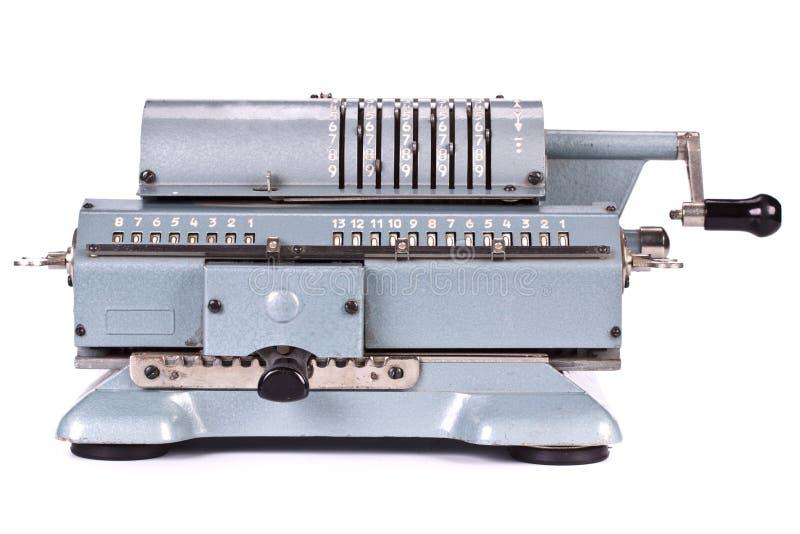 Vintage mechanical calculator stock photo