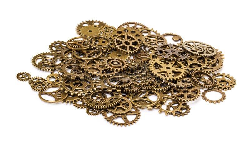 Vintage Mechanical Cogwheel Gears Wheels stock photo