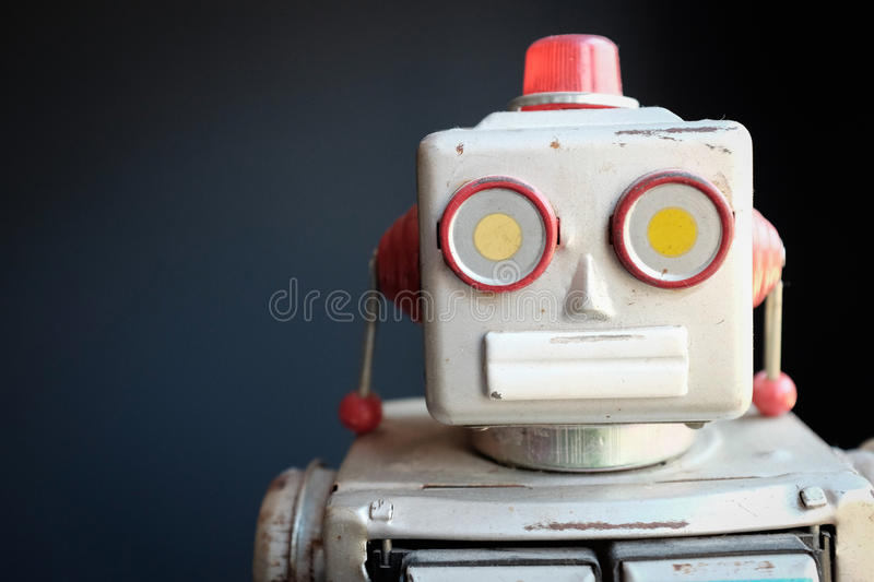 Vintage Mechanical Robot Toy royalty free stock image