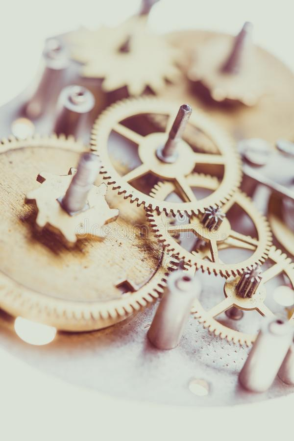 Mechanical watches close up. Vintage mechanical watches mechanism, close up gears stock images