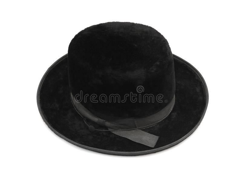 Vintage men felt hat. Traditional men jewish felt hat royalty free stock photos