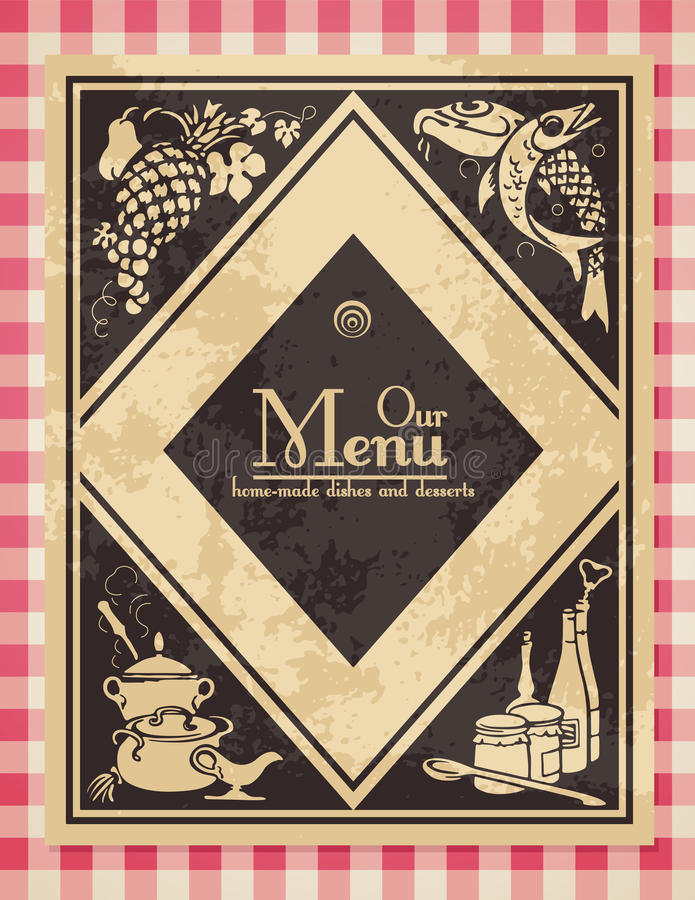 Vintage menu royalty free illustration