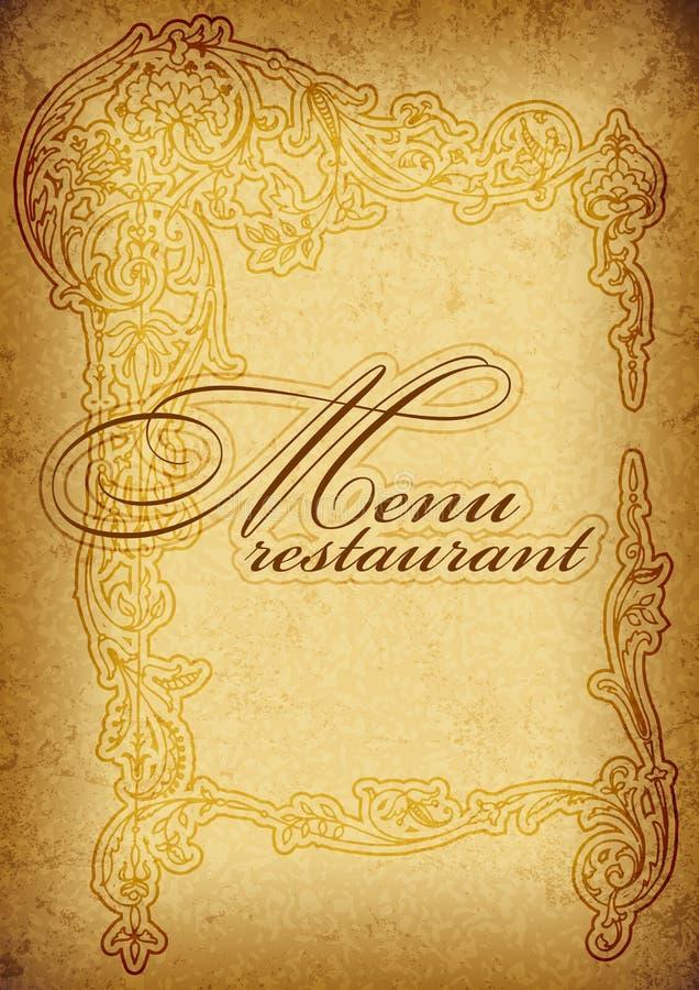 Download Vintage menu stock vector. Image of label, card, leaf - 24623171