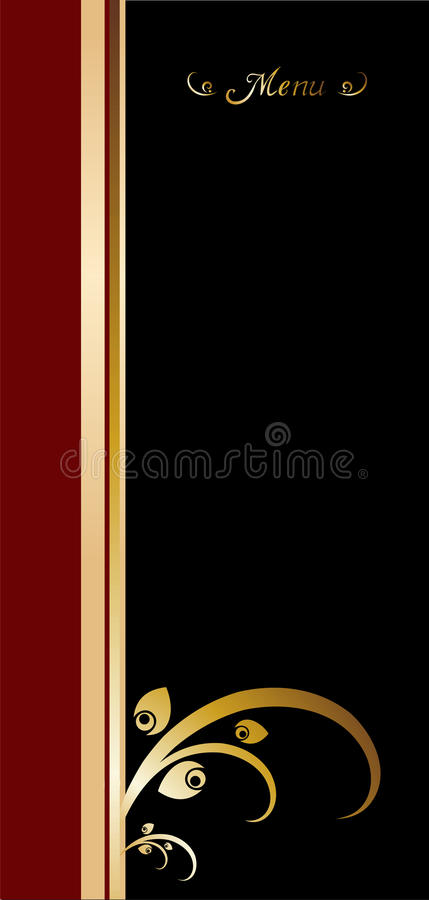 Download Vintage menu cover design stock vector. Illustration of banner - 13078010