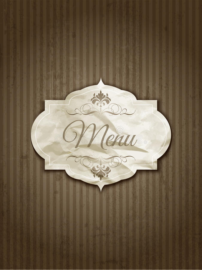 Vintage menu design stock illustration