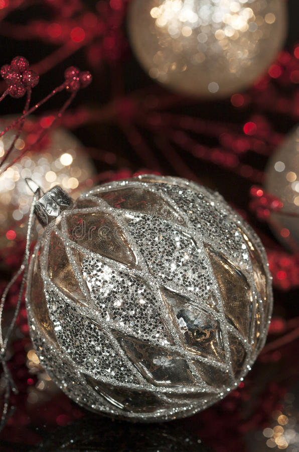 Free Vintage Mercury Silver Christmas Ornament 2 Royalty Free Stock Photography - 35629727