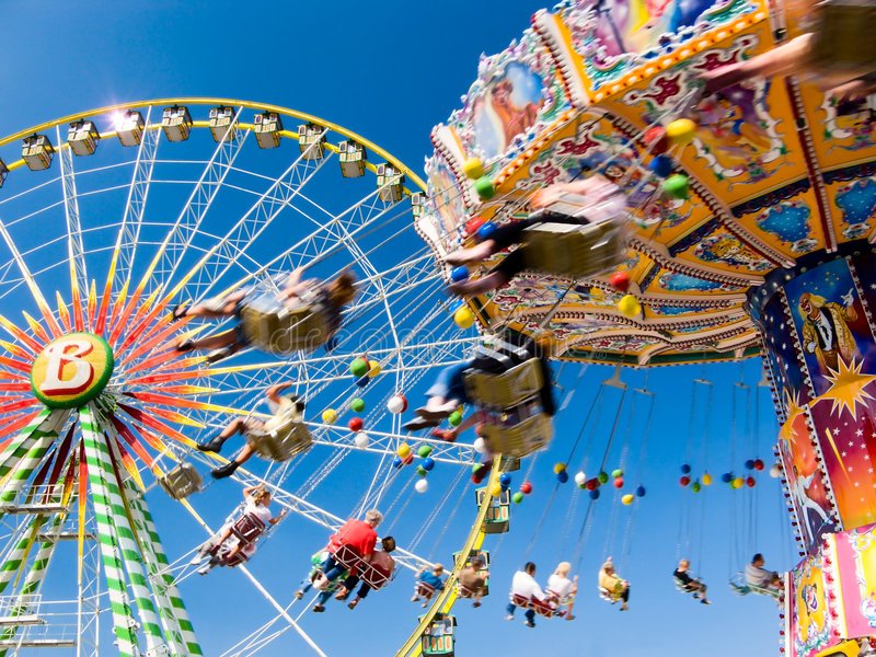 Vintage Merry-go-round Stock Images