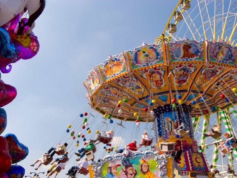 Vintage merry-go-round royalty free stock photo