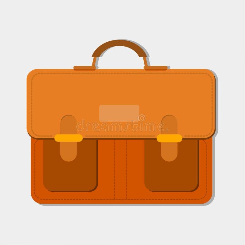 vintage messenger bag vector illustration stock photography