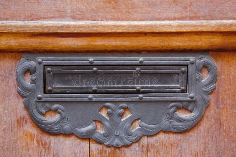 Vintage metal front door mailbox royalty free stock photos