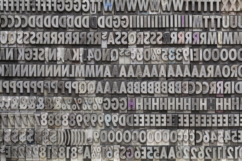 Metal Letters And Numbers Vintage Metal Letters And Numbers Stock Photo  Image Of Metal