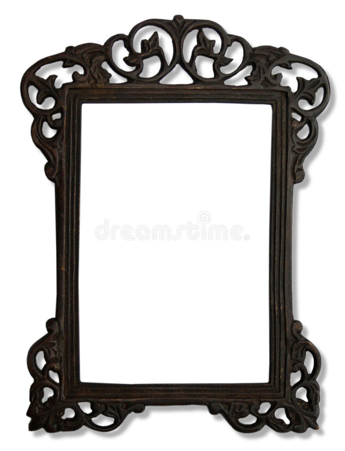 Vintage metal photo frame stock photo. Image of decorating - 28674180