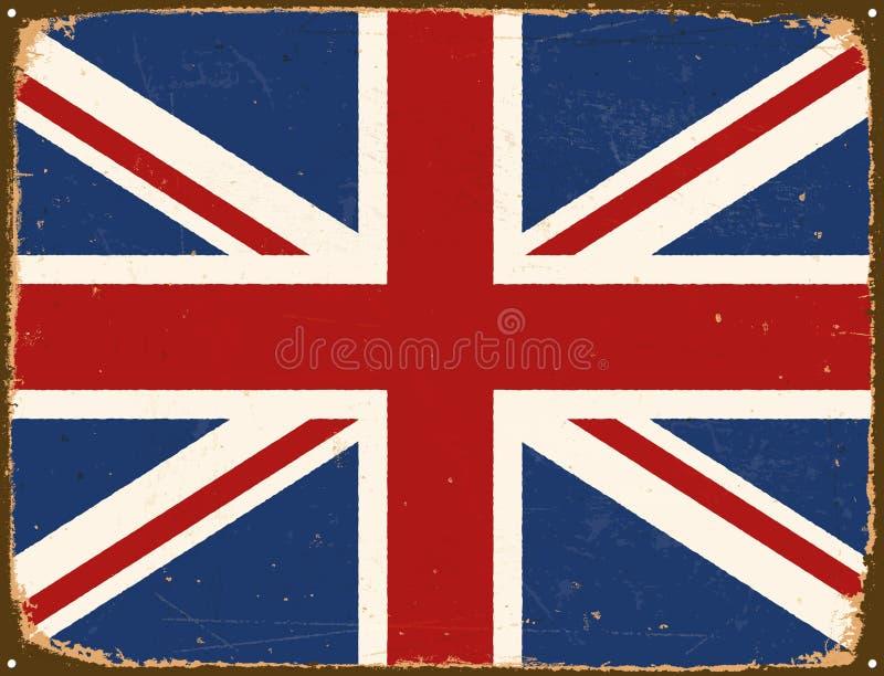 Vintage Metal Sign - United Kingdom Flag. royalty free illustration