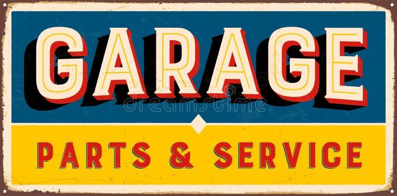 Vintage Metal Sign stock illustration