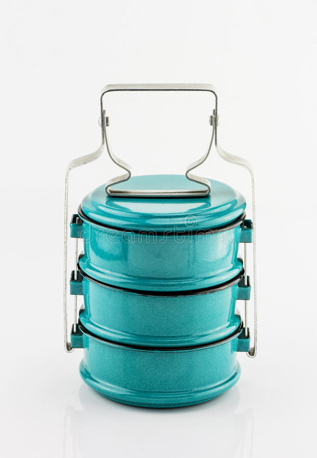 Vintage Metal Tiffin ,Food Carrier royalty free stock photography