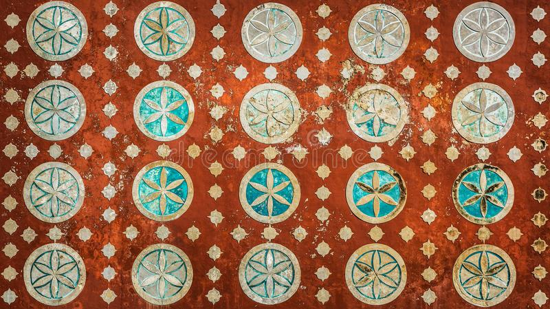 Vintage mexican pattern, highly detailed colonial style background royalty free stock photography