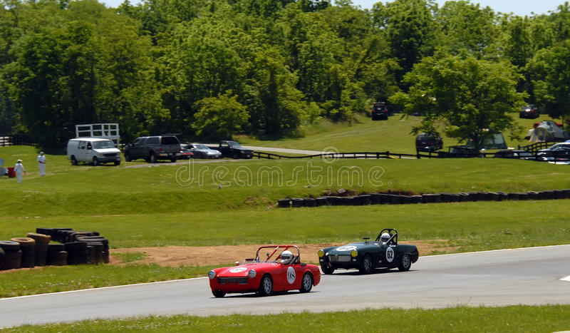 Vintage MG Sports Car Racing Editorial Stock Photo