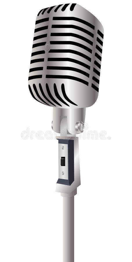 Vintage Microphone. Isolated on a white background royalty free illustration