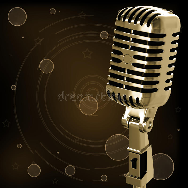 Download Vintage microphone stock illustration. Image of record - 23537623