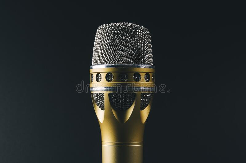 Vintage microphone royalty free stock photos