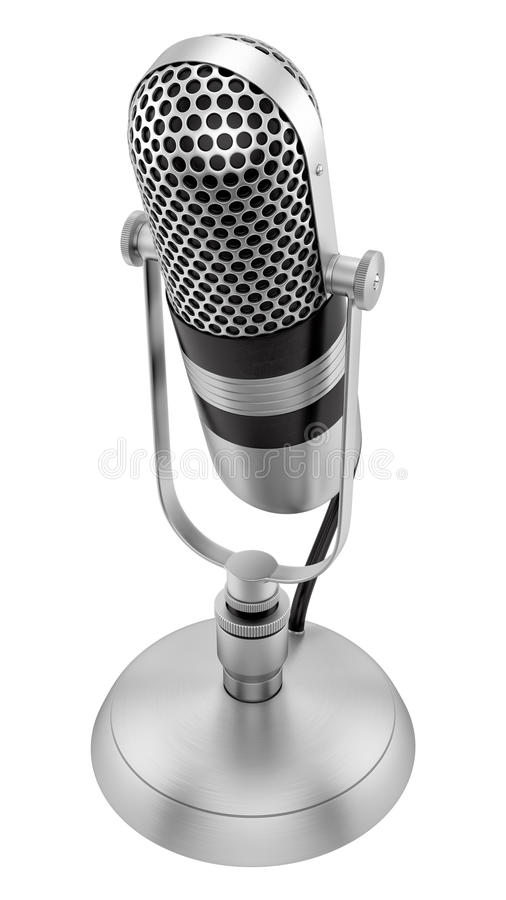 vintage microphone royalty free illustration