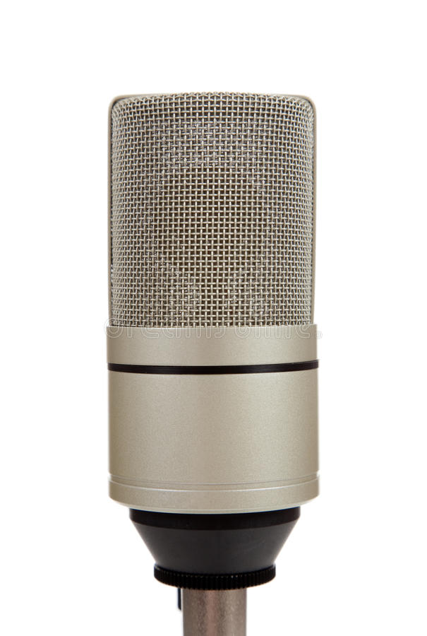 Vintage Microphone On A White  Background Royalty Free Stock Image
