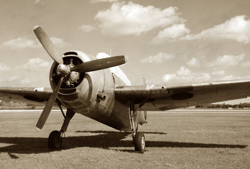 Vintage military aircraft royalty free stock images