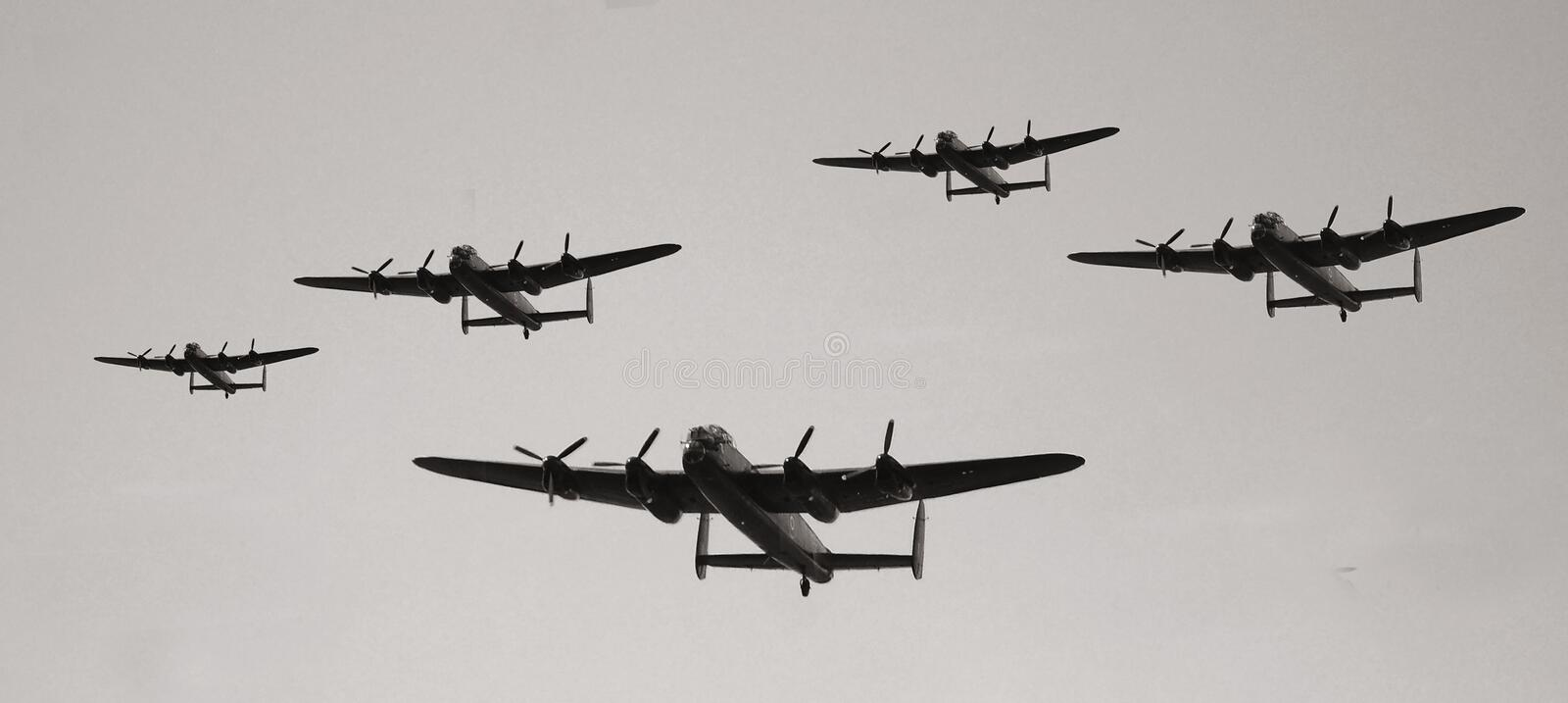 Vintage military aircraft royalty free stock photos