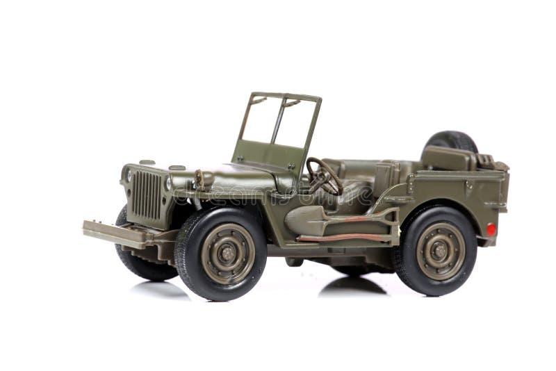 Vintage military jeep stock photo