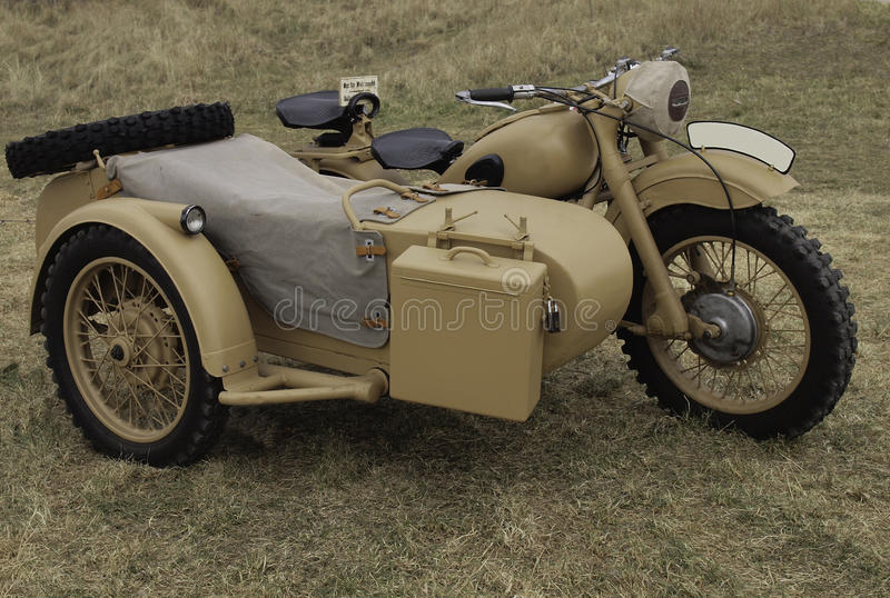 Military motorcycle from WWII. stock photography