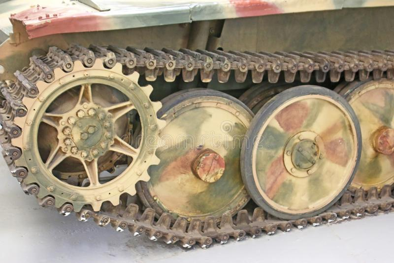 Vintage military tank royalty free stock image