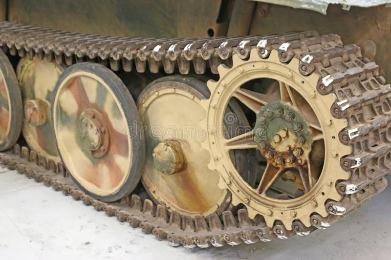 Vintage military tank stock photography