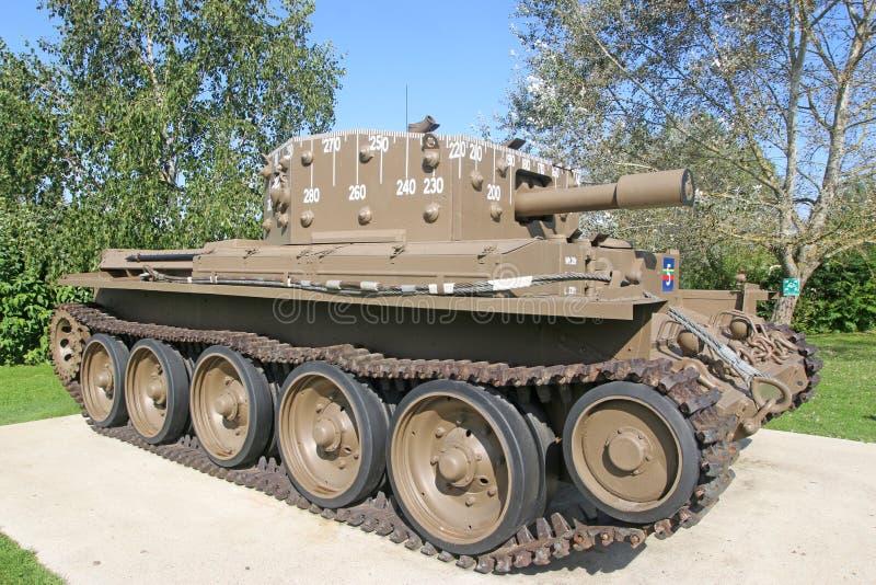 Vintage military tank stock image