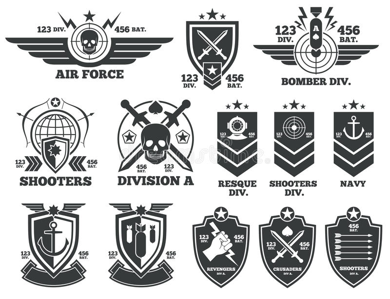 Vintage Military Vector Labels And Patches Stock Vector ...