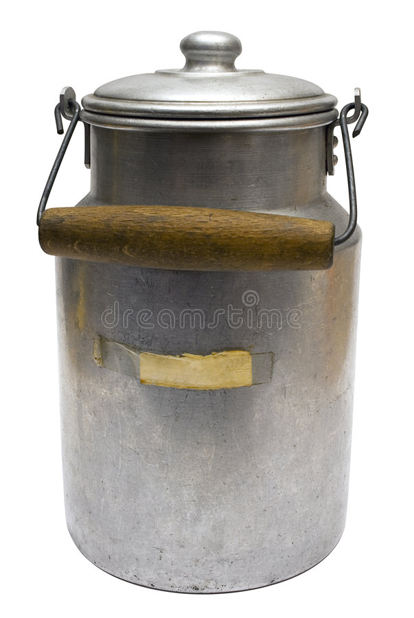 Download Vintage Milk Can W/ Path Stock Photo - Image: 472010
