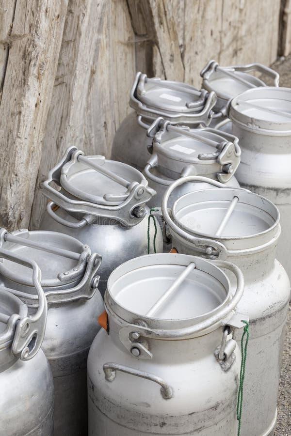 Vintage milk cans