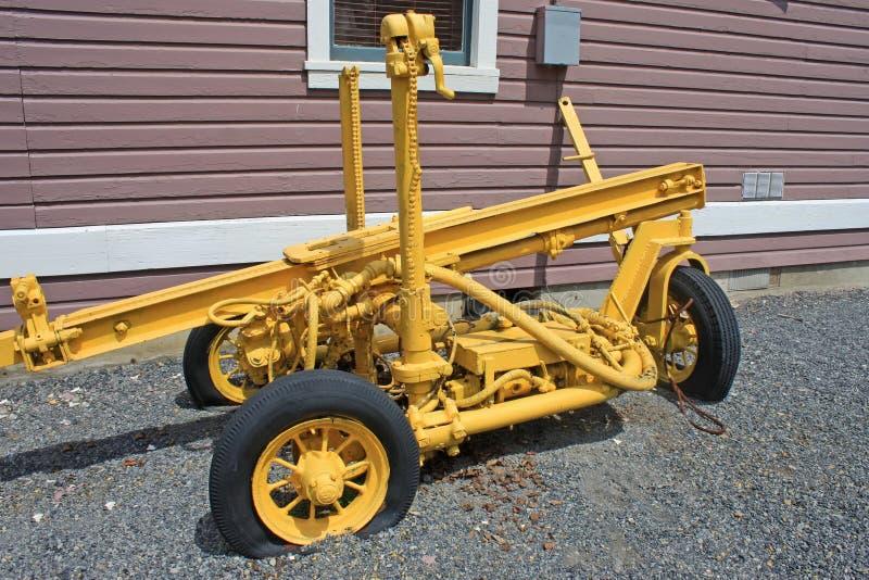 Vintage mine machinery. Vintage mining machinery in British Columbia, Canada stock image
