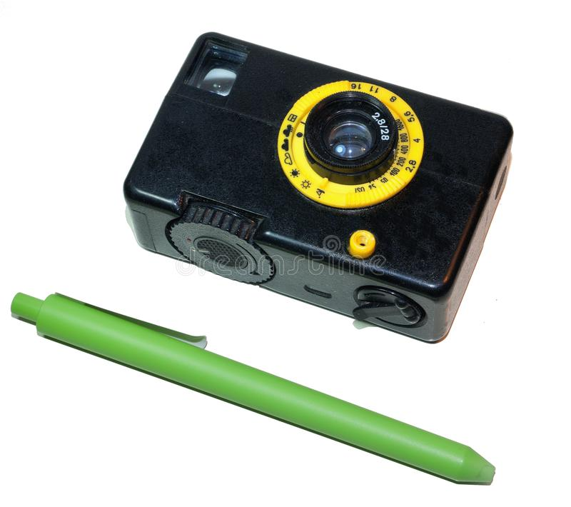Vintage Miniature Film Camera was produced in the Soviet Union stock photos