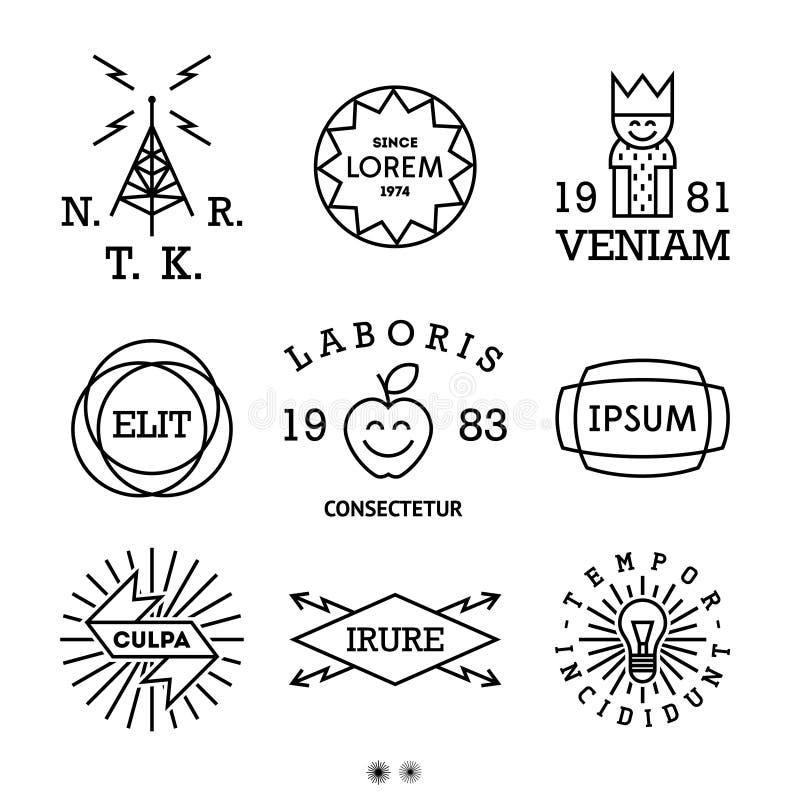 Vintage minimal labels stock image