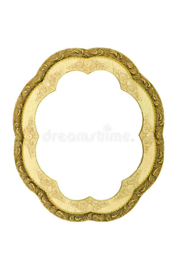Vintage mirror frame isolated. On white background stock photos