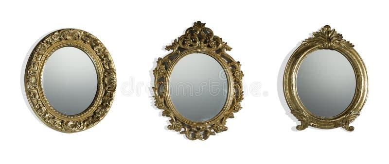 Download Vintage mirrors stock image. Image of white, closeup - 24378081