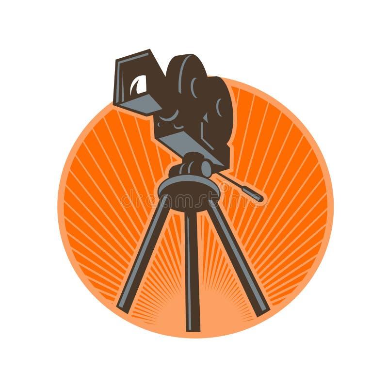 Vintage 35mm Motion Picture Camera Retro vector illustration