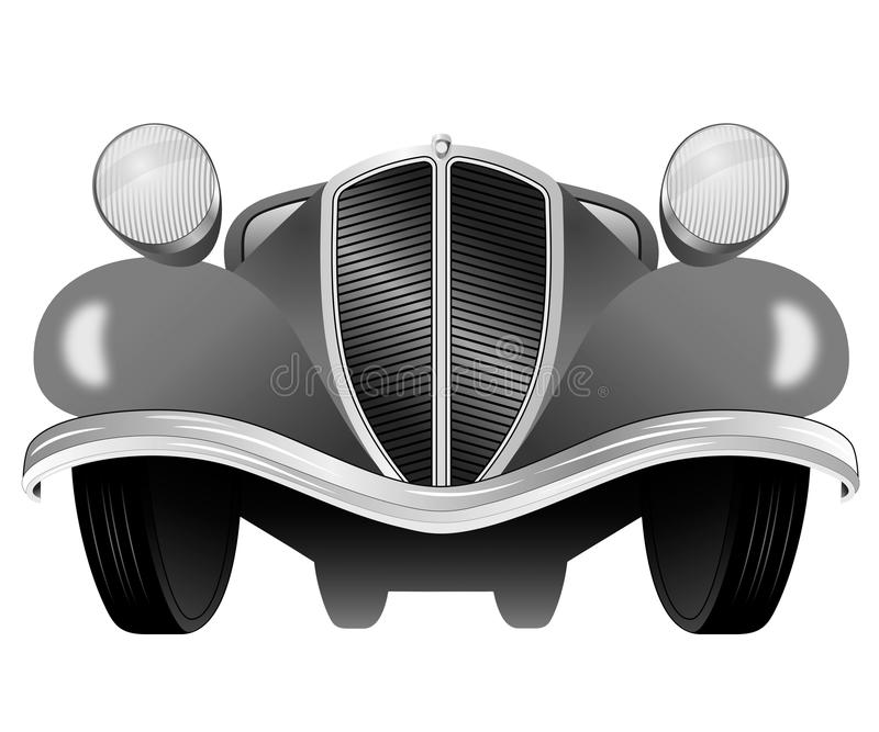 Vintage model of the car from the front view. Old vintage model of the car from the front view vector illustration